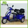 Un motorino elettrico delle tre rotelle con 2 sedi per gli anziani
