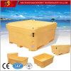 Rectángulo de almacenaje de Trandporation del encadenamiento frío del refrigerador del hielo de los pescados del PE de la categoría alimenticia