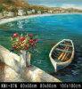 Met de hand geschilderd Olieverfschilderij - Landschap (1)