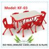 Tableau et présidence en bois préscolaires d'enfants de meubles pour les gosses (KF-03)