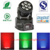 diodo emissor de luz Moving Head Wash de 7*10W Mini Stage Lighting