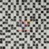 Mosaico cristalino mezclado blanco y negro (CC175)
