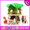 Neues hölzernes Baum-Baumhaus der Entwurfs-Kind-DIY spielt W03b057