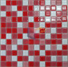 Bianco e Red Mixed Glass Mosaic (CFC166)