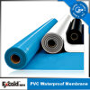 Мембрана PVC анти- UV голубой белизны водоустойчивая для крыши/подвала/бассеина/пруда (ISO)