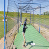 Bewegliche Baseball-Softball-Praxis, die Netz schlägt