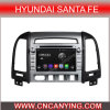 Reproductor de DVD del coche para el reproductor de DVD de Pure Android 4.4 Car para Hyundai Santa Fe 2012 con A9 CPU Capacitive Touch Screen GPS Bluetooth (AD-7027)