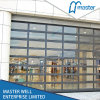Aluminum Frame Transparent Panels Door Garage