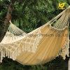 Weiße Baumwollgewebe-hängende Franse-Hängematte