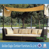 Outdoor Rattan Sofa Set with Aluminum Tube and Canopy