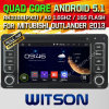 Carro DVD do Android 5.1 de Witson para o Outlander 2013-2015 de Mitsubishi (W2-A7038) com sustentação do Internet DVR da ROM WiFi 3G do chipset 1080P 8g