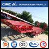 Cimc verbreiterter Gooseneck Lowbed halb Schlussteil (3-3.5m Breite)