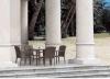 Rota 4-Chairs y jardín al aire libre Furniture-3 del vector de la rota