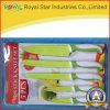 Нож ручки оптового высокого качества цветастый пластичный установил (RYST0120C)