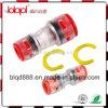 Clips que bloquean en el empalme de tuberías micro, conector de Microduct, conector recto óptico de la fibra