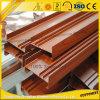 Valla de aluminio de grano de madera con ISO9001