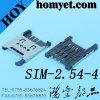 разъем карточки тангажа SIM 2.54mm с держателем