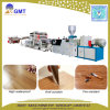 Cadena de producción plástica de madera del azulejo de suelo del tablón del vinilo de la hoja del PVC