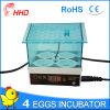 Incubateur complètement automatique approuvé d'oeufs de poulet de la CE mini