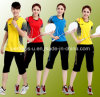 Terno do Badminton do terno da camisa de esporte das mulheres
