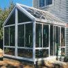 傾いたデザイン屋根アルミニウムフレームの倍のガラス日曜日部屋(TS-368)