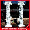 Columna de mármol romana tallada mano de la escultura