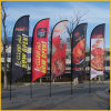 Indicadores de la pluma, haciendo publicidad de la impresión de la bandera, bandera del indicador del viento de la lámina