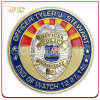 Weiches Enamel Custom 3D Logo Police Challenge Coin