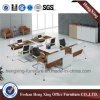 Neue Auslegung-L-förmige 4 Personen-Büro-Arbeitsplatz-Partition-Zelle (HX-6D049)