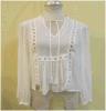 Fumidar Fabrik-Chiffon- Kleidknit-Hemd beiläufiger Mutterschaftsspandex bodenlose Damen, die Blusen-Oberseiten kleiden