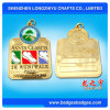 Ausgezeichnete QualitätsmetallCastom überzogene Goldmedaille mit Medaillen-Kasten