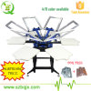 Machine d'impression rotatoire manuelle d'écran de station de la couleur 6 des prix de promotion 6