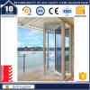 Porte de pliage en aluminium de double vitrage avec la qualité