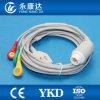 Compatoble para el IEC del HP MP30, encaja a presión tres el cable y los Leadwires, 12pins del terminal de componente ECG