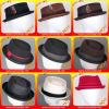 Chapéus dos homens de feltro de lãs de 100%, palha 100% Porkpie e chapéus dos homens da coroa do diamante para o verão e o inverno