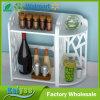 Estante de especia del estante del almacenaje de la cocina de las gradas del blanco 2