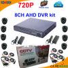 8 jogo de Ahd DVR da canaleta com a câmera da abóbada 720p