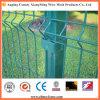 Сваренная загородка ячеистой сети с загибами и квадратным столбом