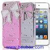 3D Bling Kristallrhinestone-Querbinder-harter Abdeckungs-Fall für Apple iPhone 5 5g 5.