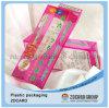 Nouvelle poche de côté de boîte de cadeau de boîte en plastique de boîte de festival de célébration de conception
