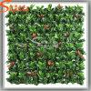 Da parede alaranjada da grama da falsificação da folha do projeto da paisagem parede verde artificial