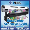 Transferencia Paper Sublimation Printer Sinocolor Wj-740I, con Epson Dx7 Head, el 1.8m