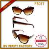 Óculos de sol plásticos da forma do estilo das senhoras manufaturados em Zhejiang (F5077)
