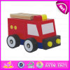 2015 insieme del giocattolo del camion di lotta antincendio del fumetto, giocattolo di legno di lotta antincendio del giocattolo, giocattolo di legno rosso W04A096 del camion di lotta antincendio del giocattolo dell'autopompa antincendio