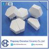 95% de alúmina de la baldosa cerámica hexagonal de caucho compuesto de cerámica