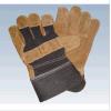 Het Werken van de veiligheid. Handschoenen van het Leer van de koe de Gespleten