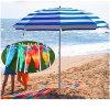 Guarda-chuva de praia impresso ajustável do mar do parasol da forma