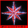 赤およびWhite PVC Garland Decoration Motif Star Light