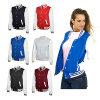 Оптовое корейское Womans плюс куртка ткани ватки университетской спортивной команды Леттермена размера