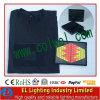 T-shirt sans fil d'EL d'éclairage d'égaliseur de T-shirt d'EL de nouvelle conception